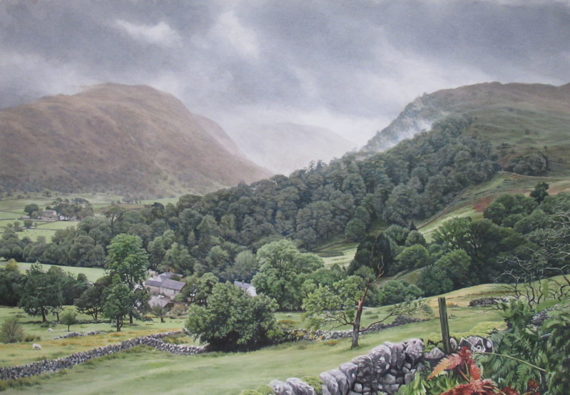 Borrowdale from above Seatoller 73.5 x 49 £2,000