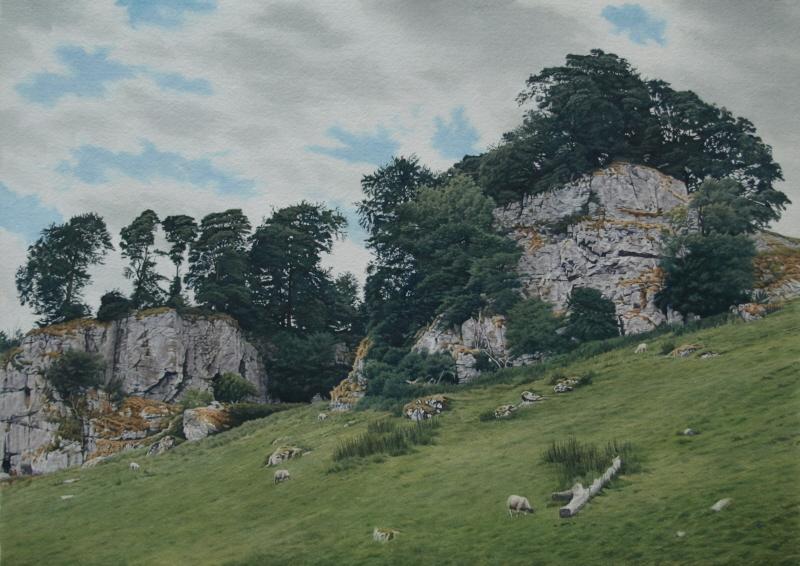 Rock outcrops, Wolfscote Dale